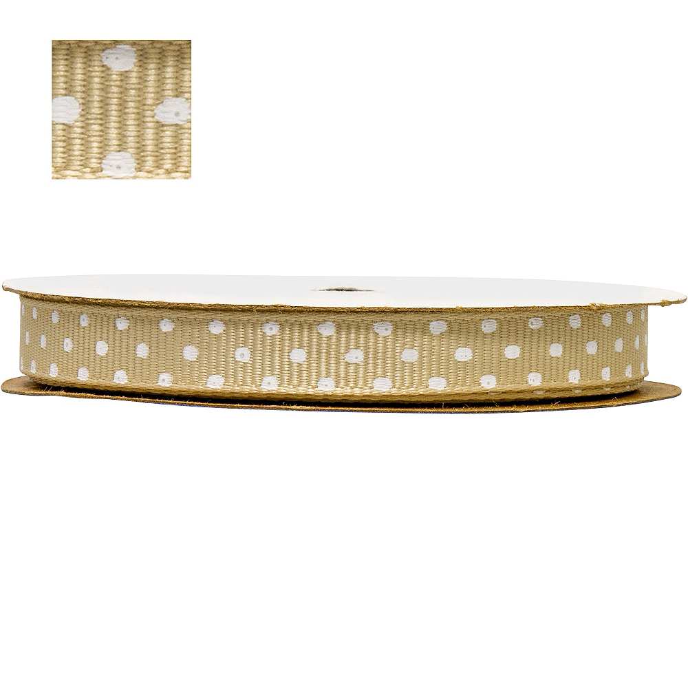 Gold Polka Dot Ribbon Image #1