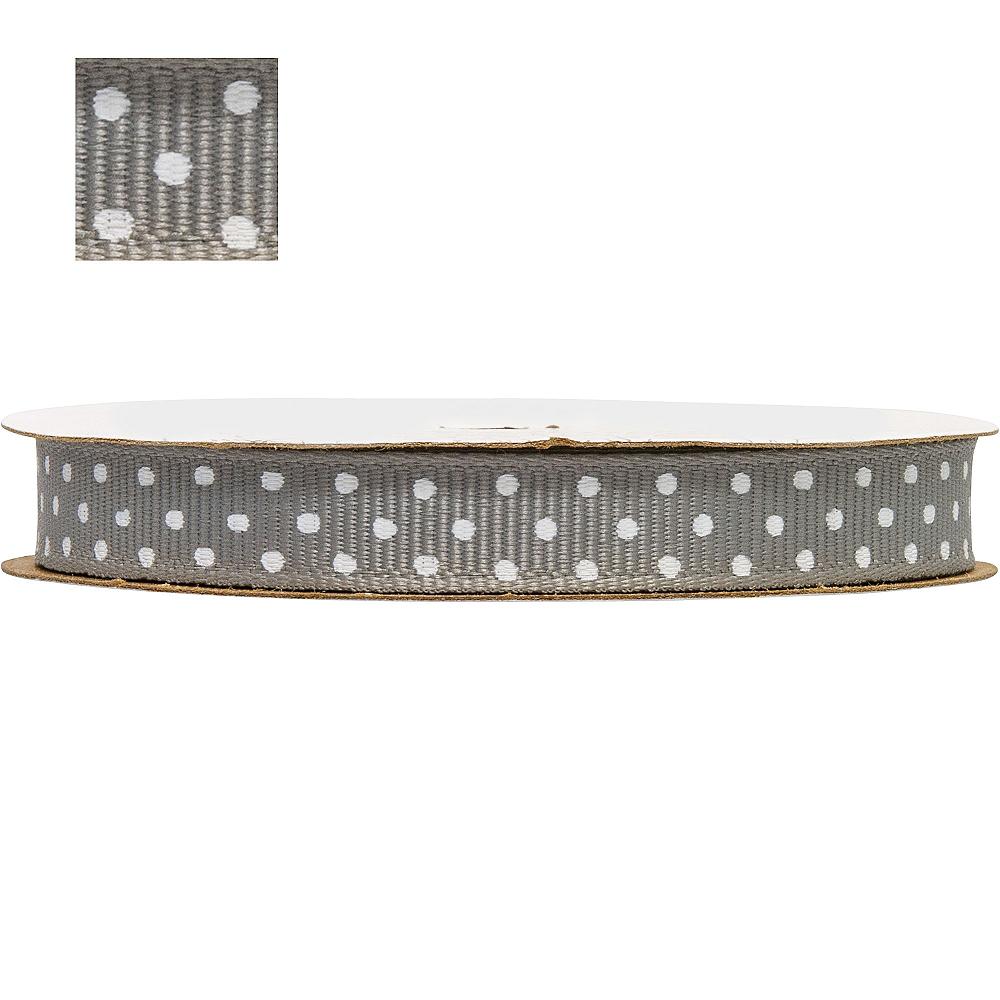 Silver Polka Dot Ribbon Image #1