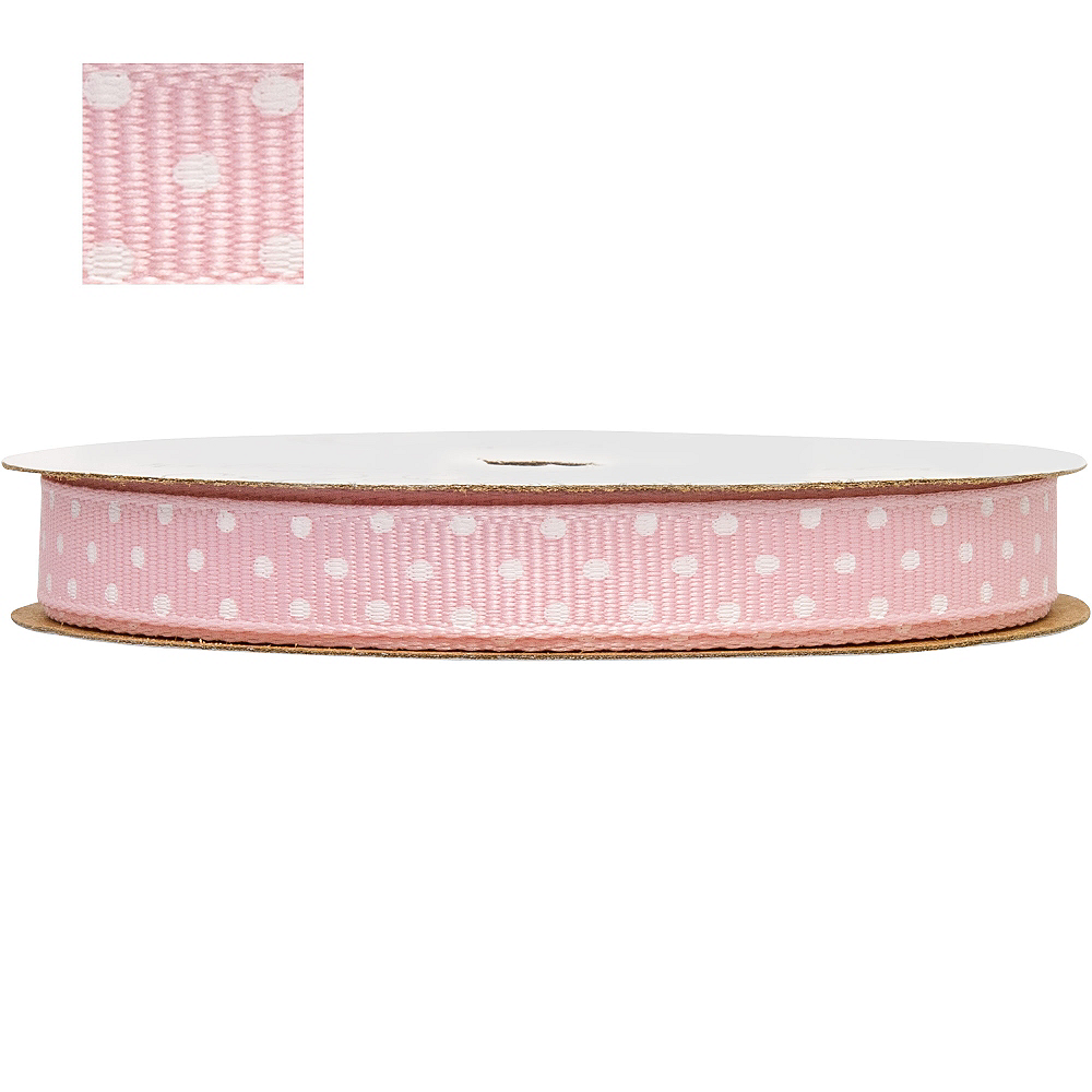 Light Pink Polka Dot Ribbon Image #1