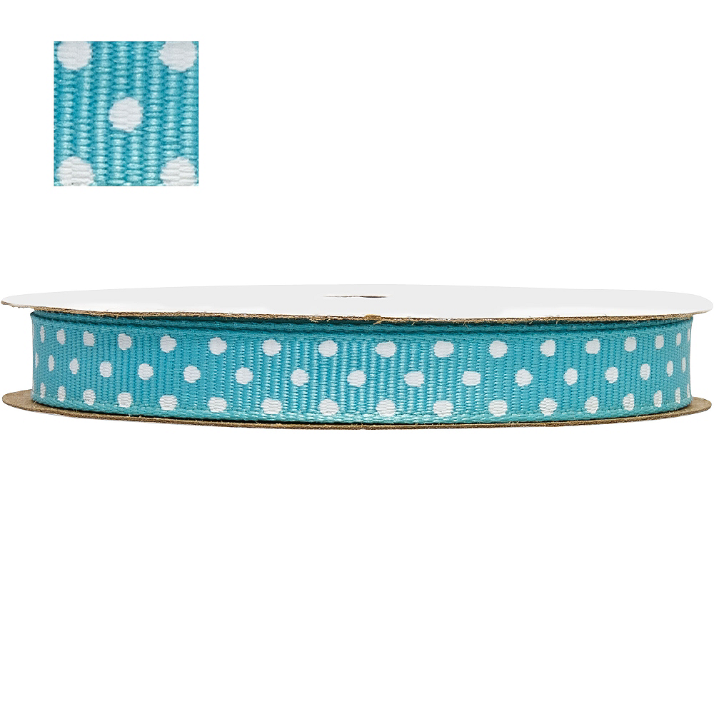 Robin's Egg Blue Polka Dot Ribbon Image #1