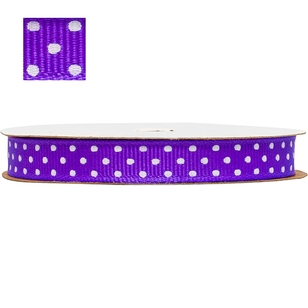 Purple Polka Dot Ribbon Image #1