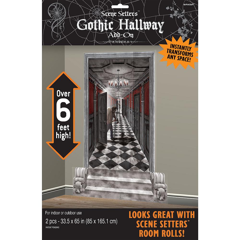 Gothic Mansion Long Hallway Scene Setters Image #2