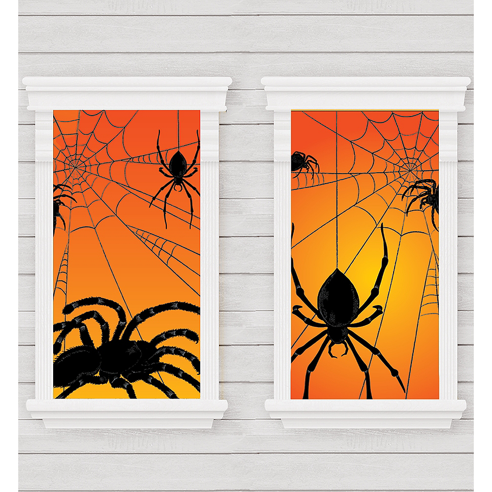 Spider Window Decorations 2ct Image #1