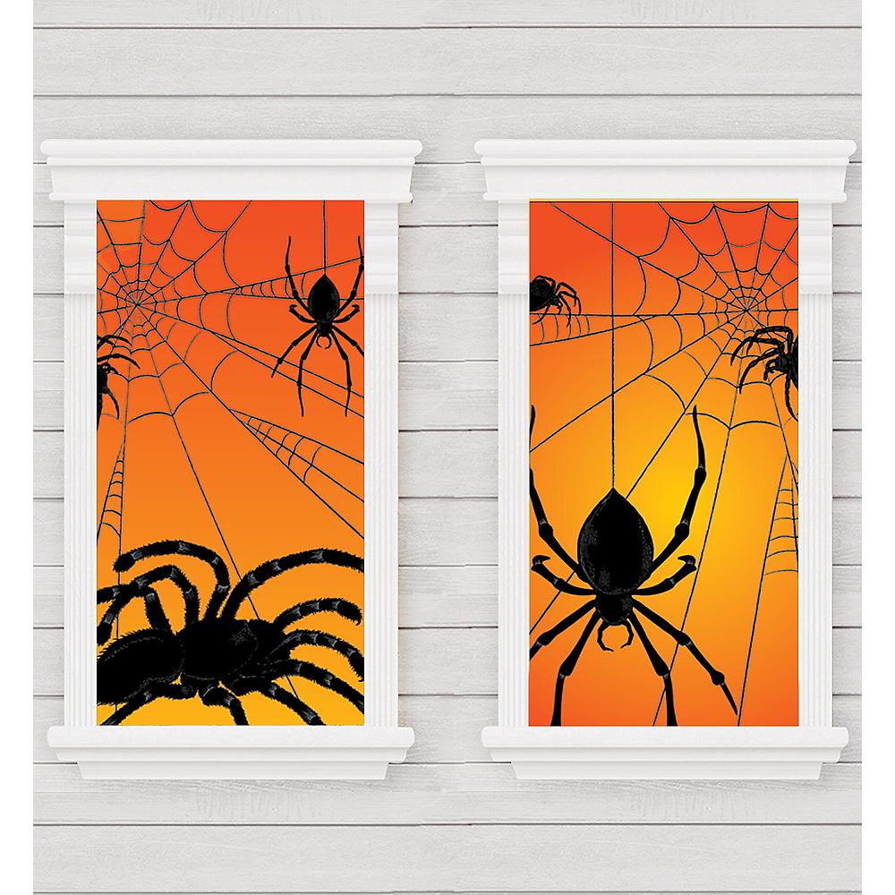 Spider Window Decorations 2ct Image #1