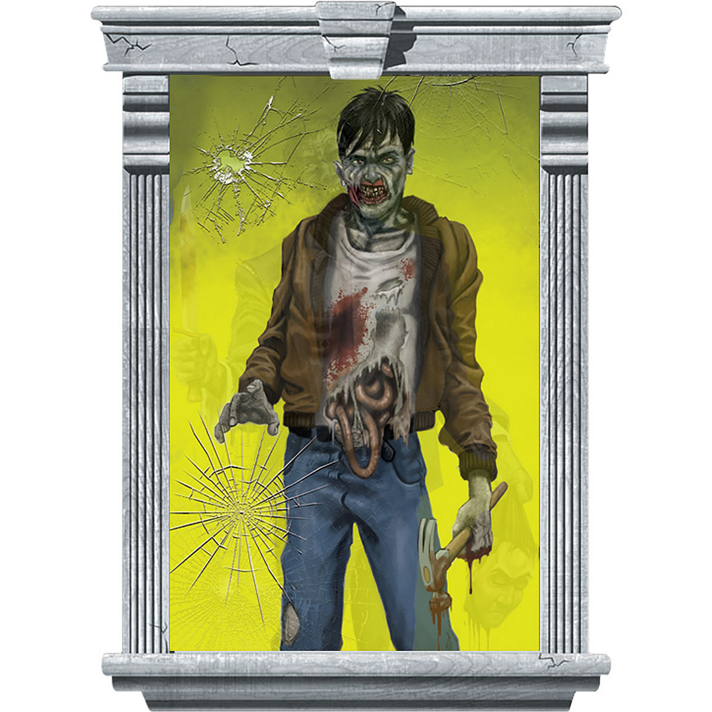 Nav Item for Killer Zombie Window Decorations 2ct Image #2