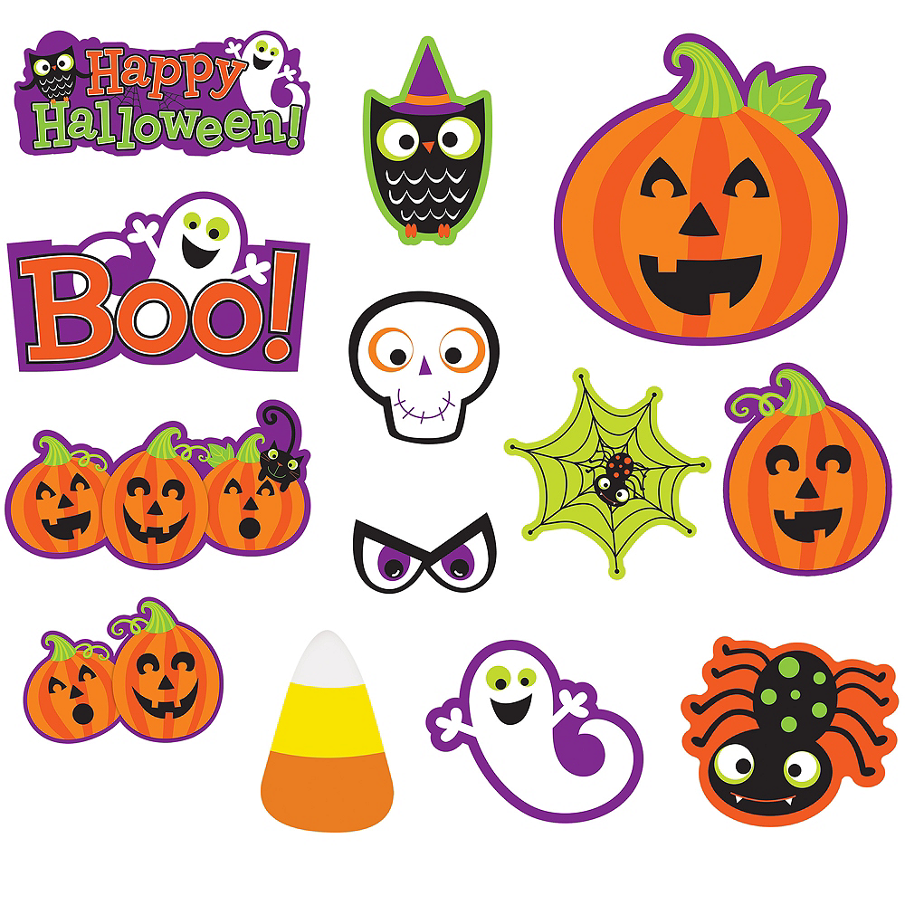 halloween cute characters cutouts mega value pack party city