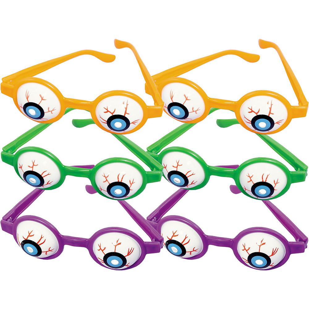 Halloween Eyeball Glasses 6ct Image #1