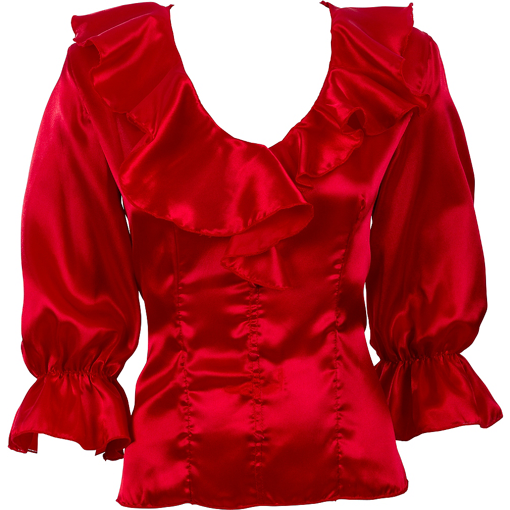 ... Adult Red Pirate Blouse Image #2