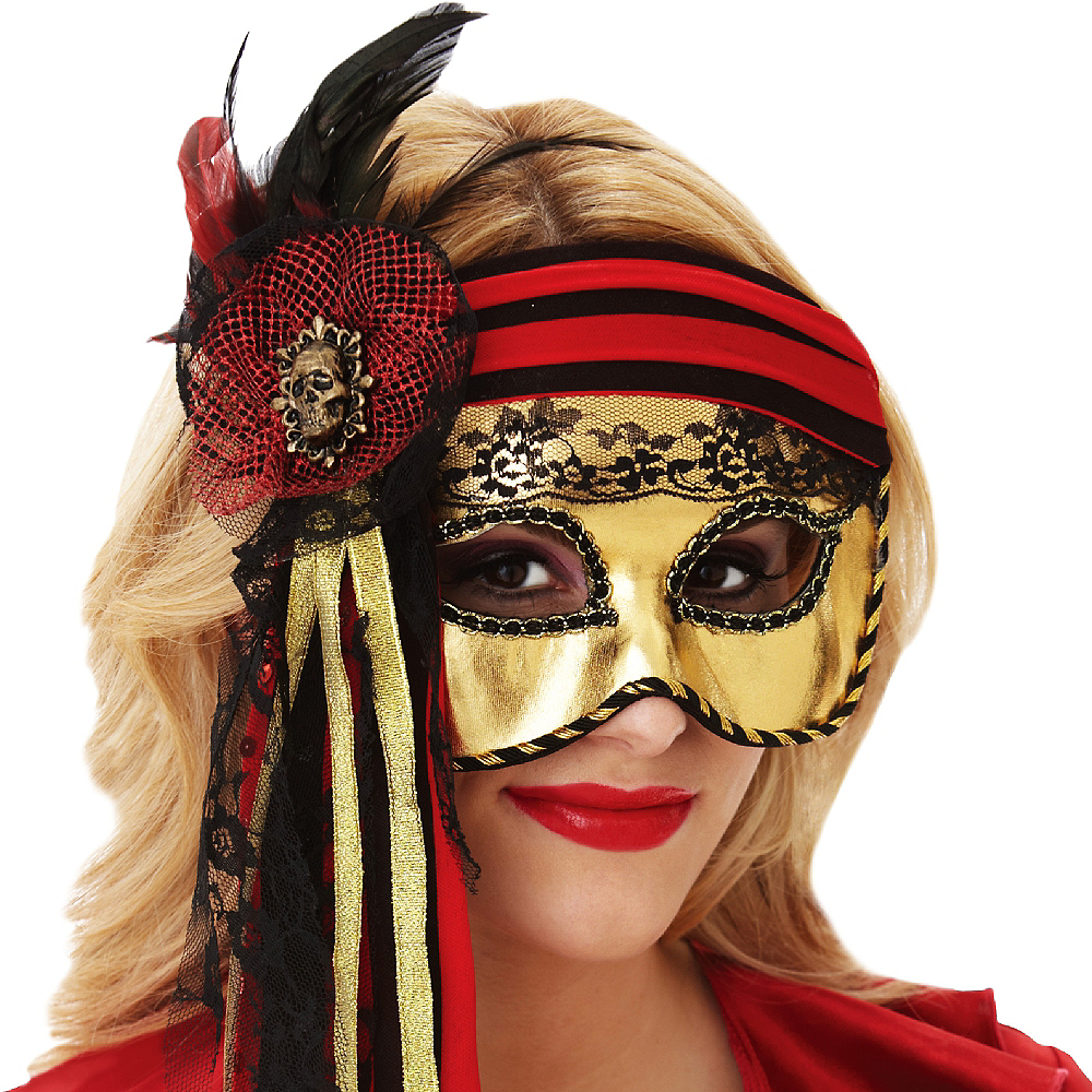 Nav Item for Pirate Masquerade Mask Image #2