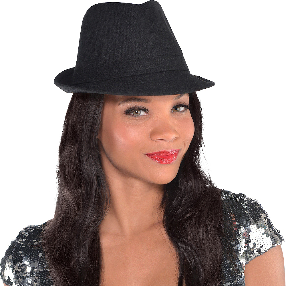 Black Fedora Hat Image #2