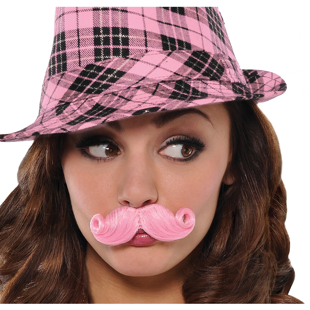 Nav Item for Pink Mini Handlebar Moustache Image #1