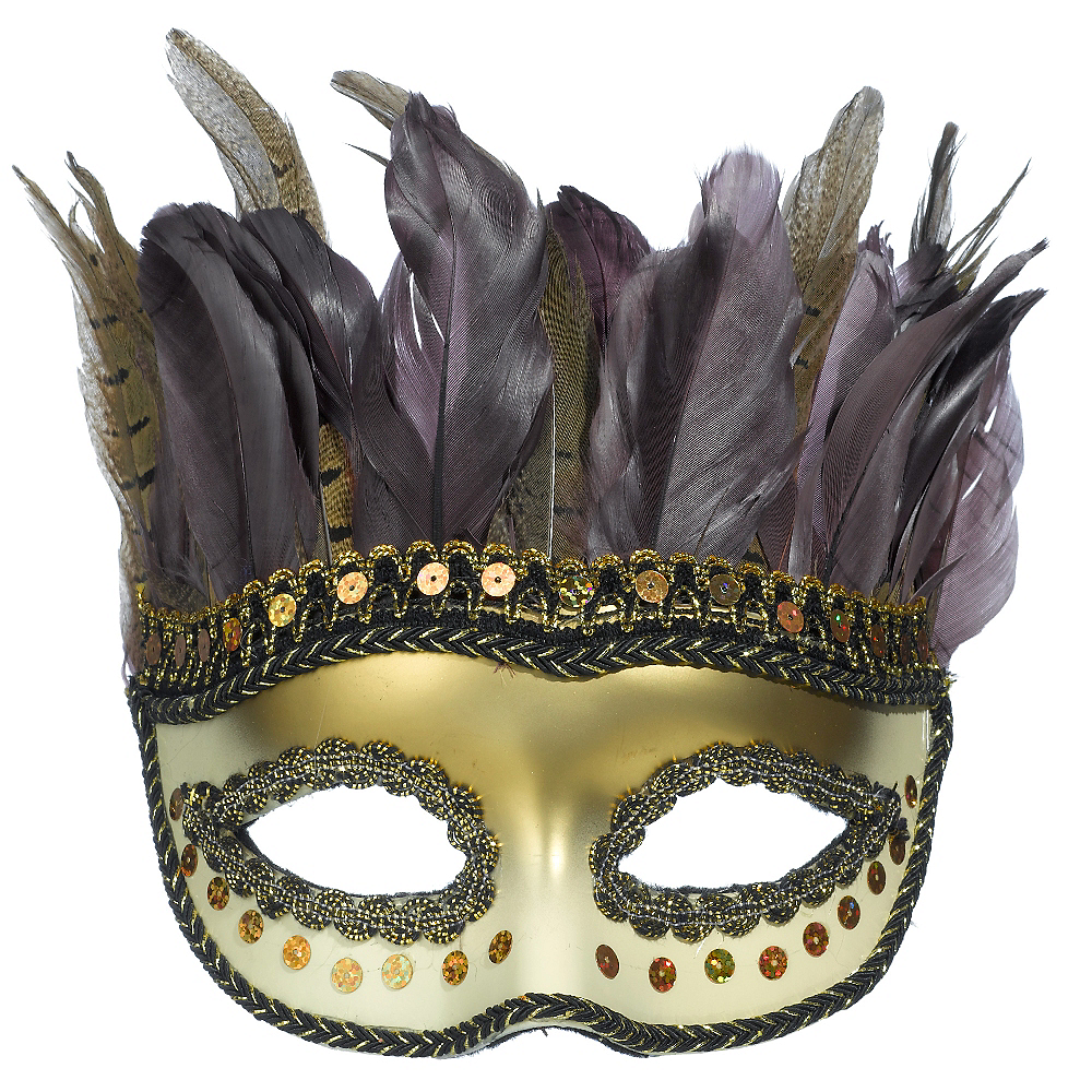 Owl Feather Masquerade Mask Image #1