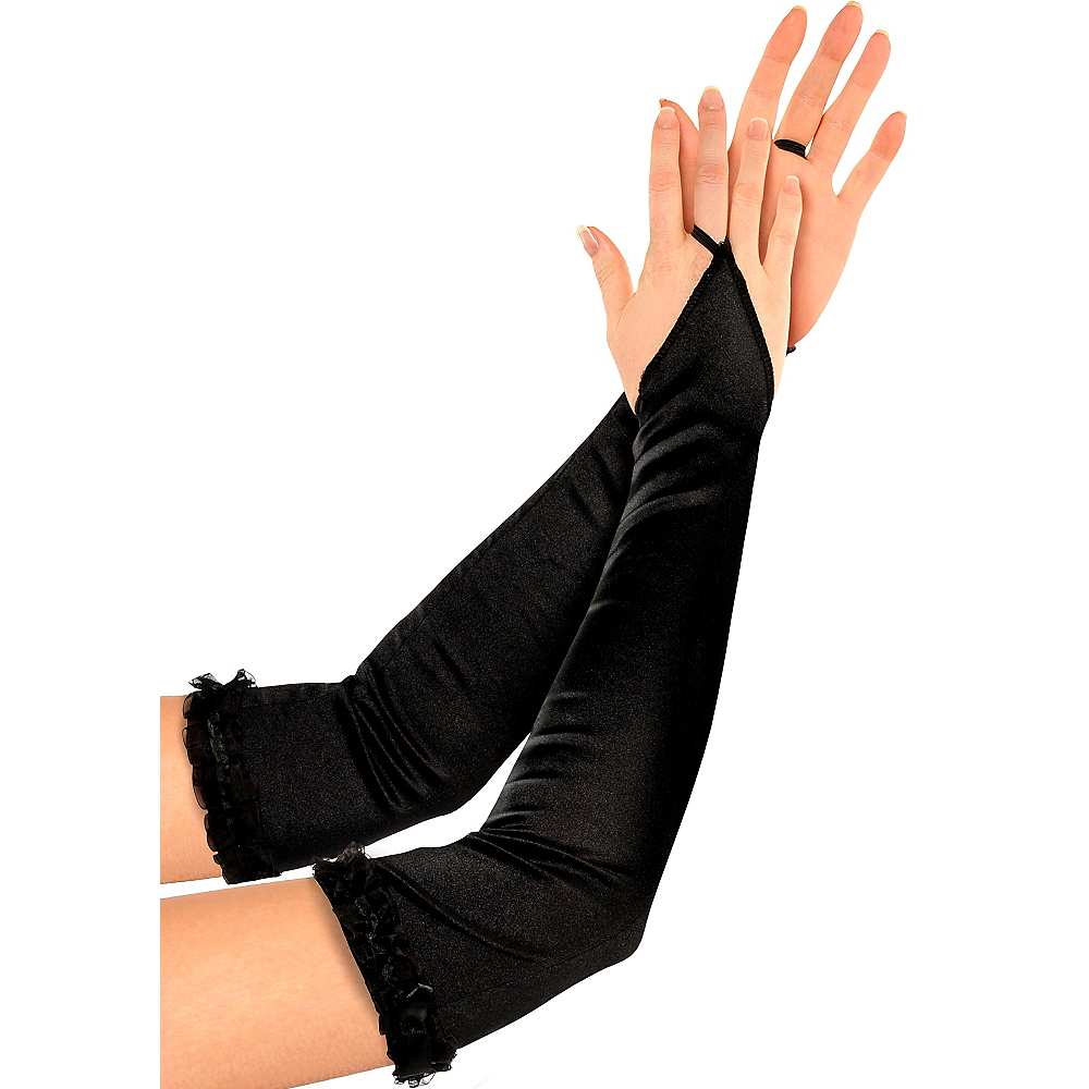 Satin Black Arm Warmers Image #1