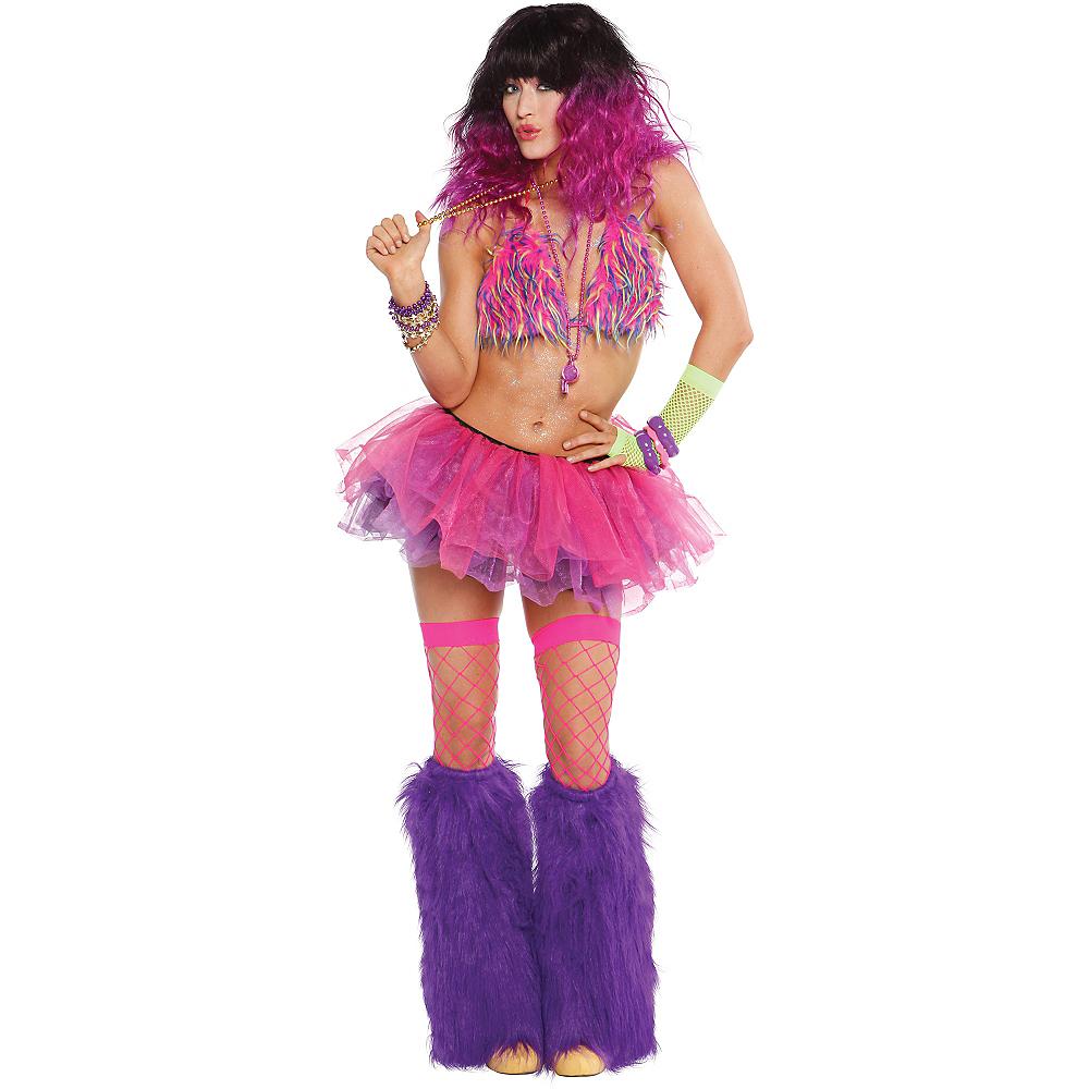 Adult Pink, Black & Purple Tutu Image #2