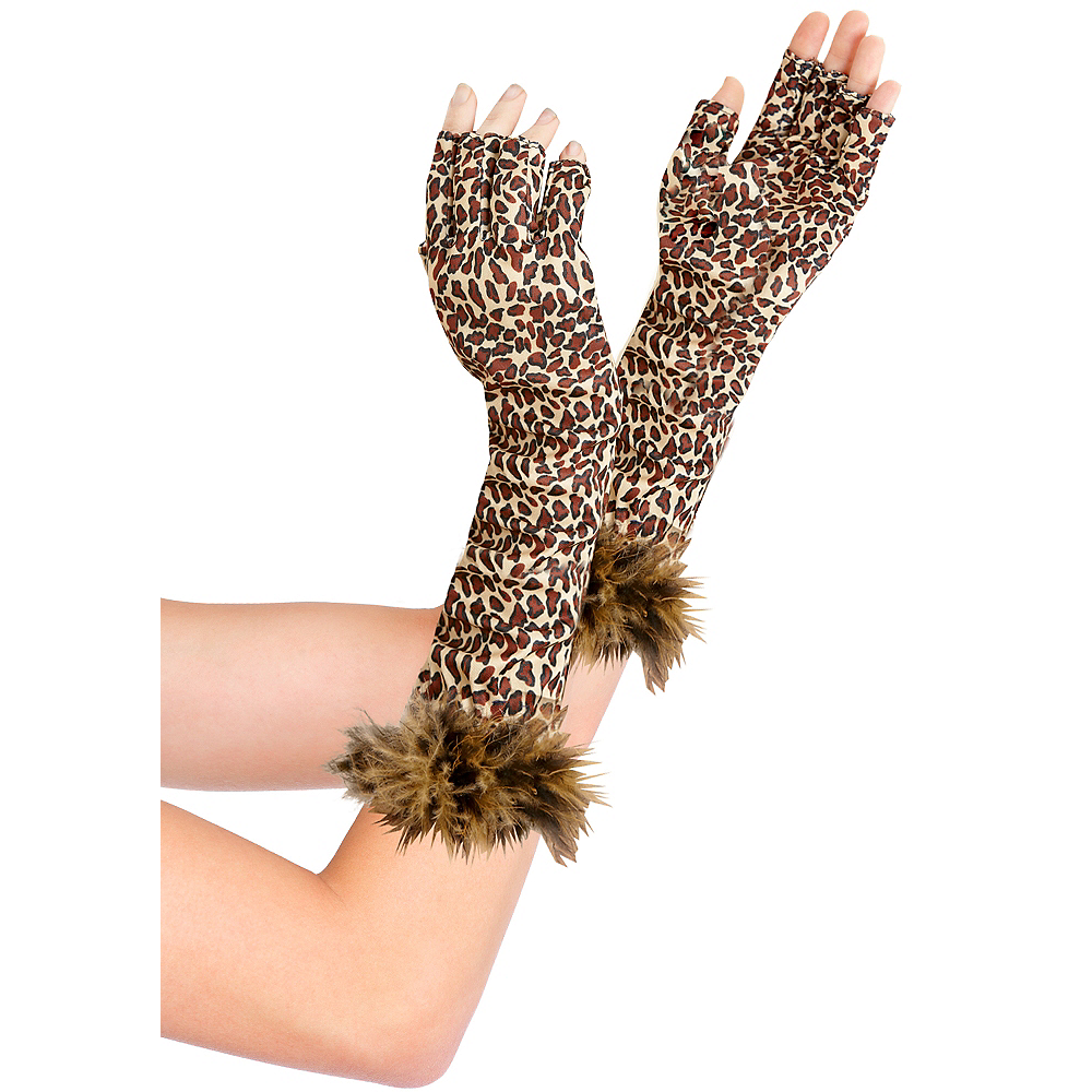 Nav Item for Fingerless Leopard Print Gloves Image #1