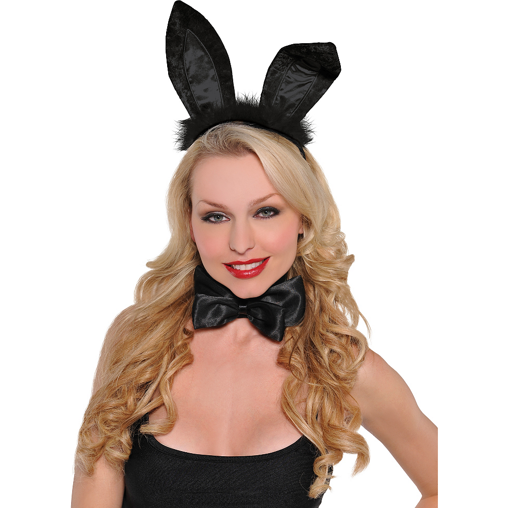 Nav Item for Black Marabou Bunny Ears Image #2