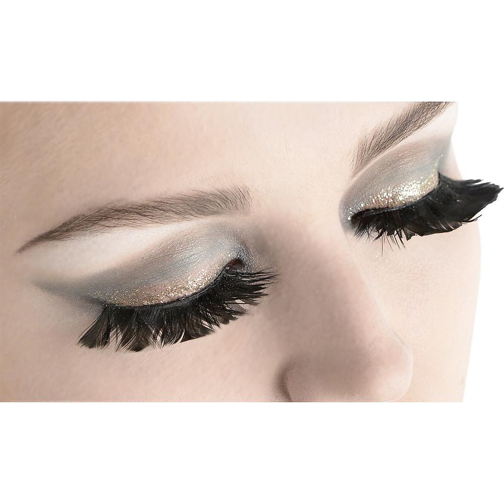 Black Feather False Eyelashes Image #1