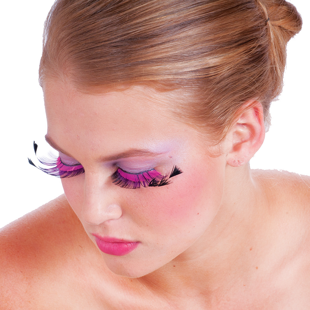 Pink & Purple False Eyelashes Image #2