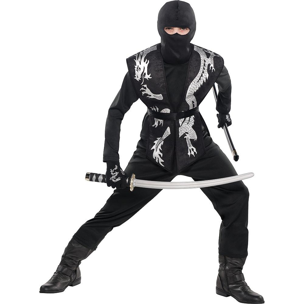 Child Black Ninja Tabard Image #2