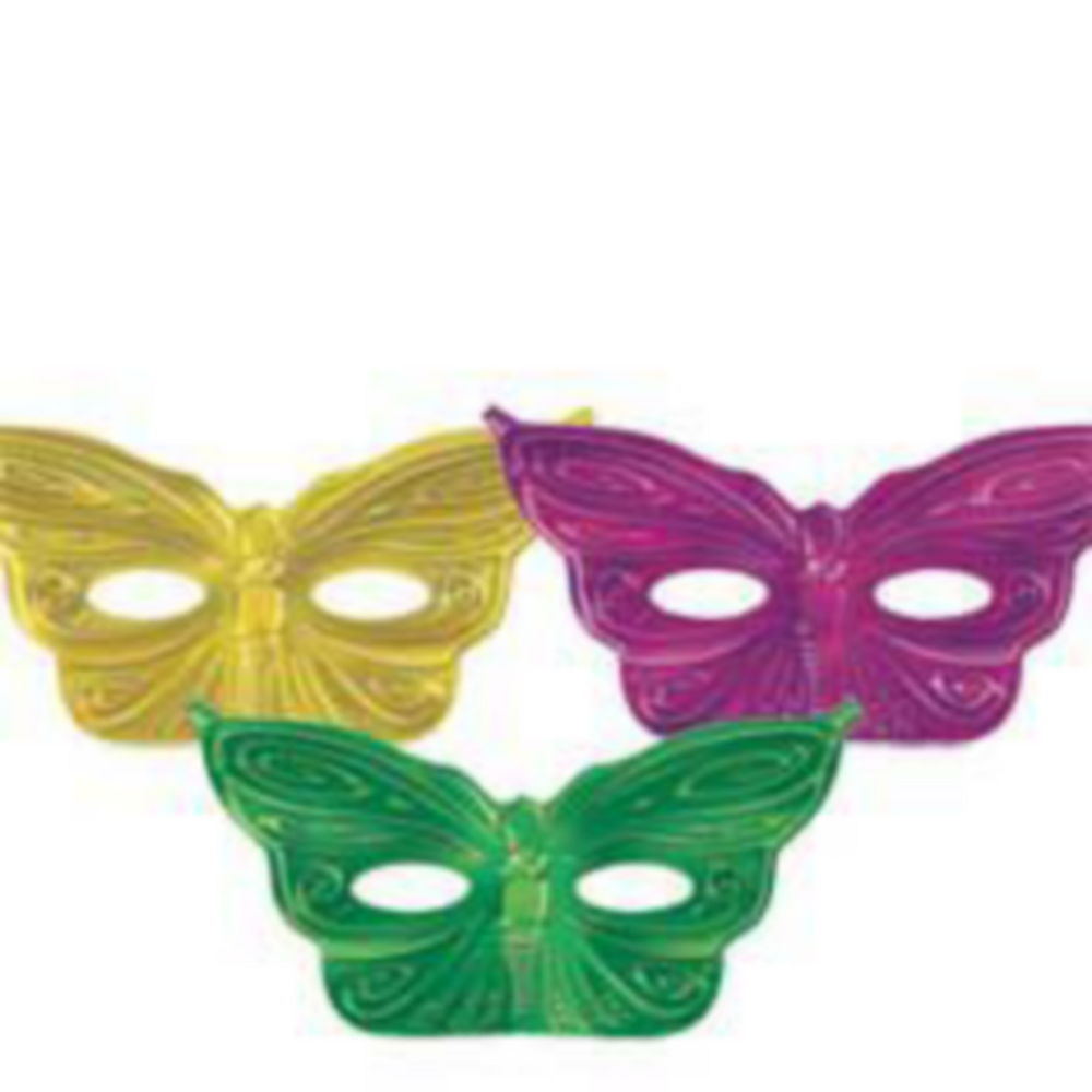 Nav Item for Foil Butterfly Mardi Gras Masks 36ct Image #2