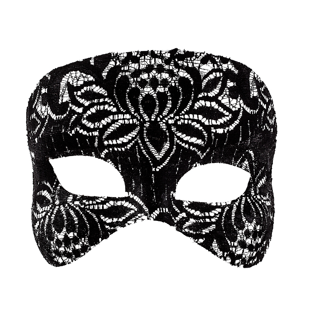 Black Lace Mask Image #1