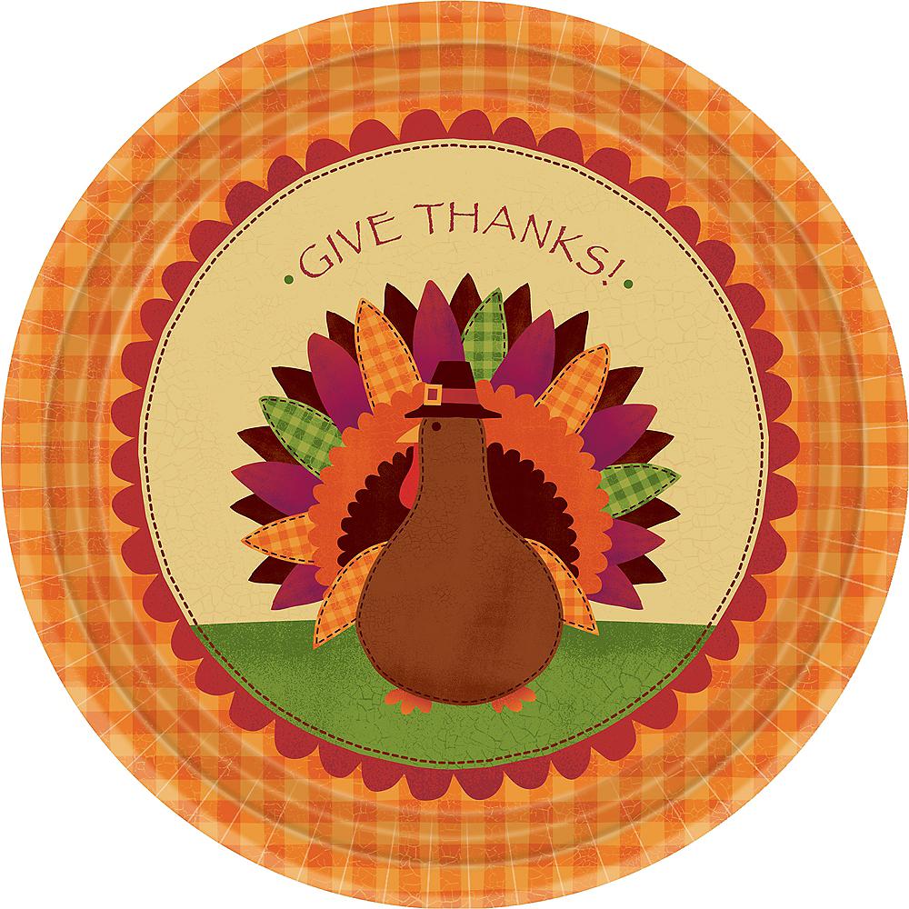 Turkey Dinner Plates 18ct Image #1