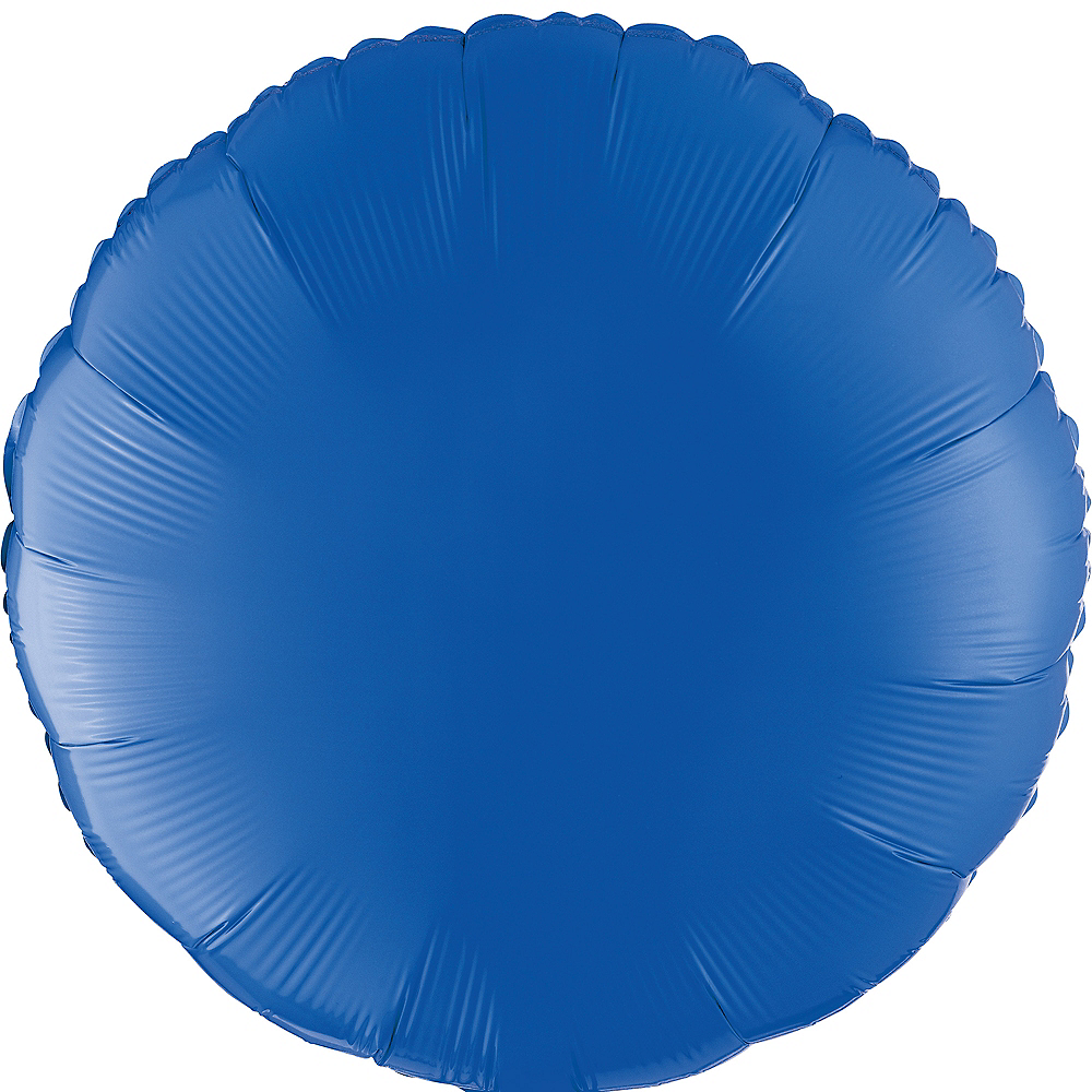 Blue Round Balloon, 18in Image #1