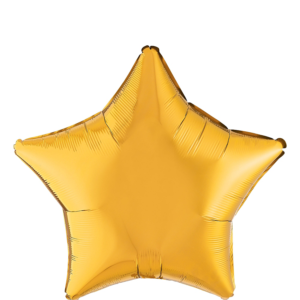 Gold Star Balloon, 19in Image #1