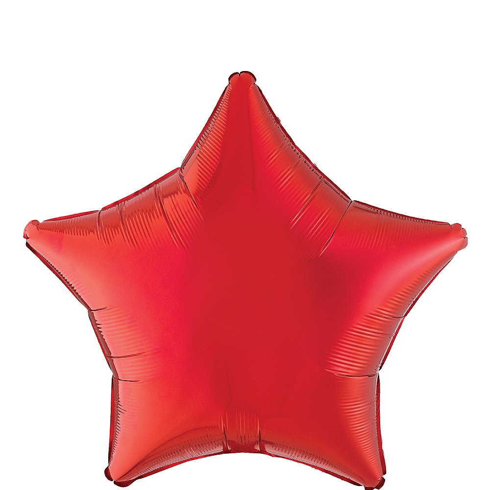 Nav Item for Red Star Foil Balloon, 19in Image #1