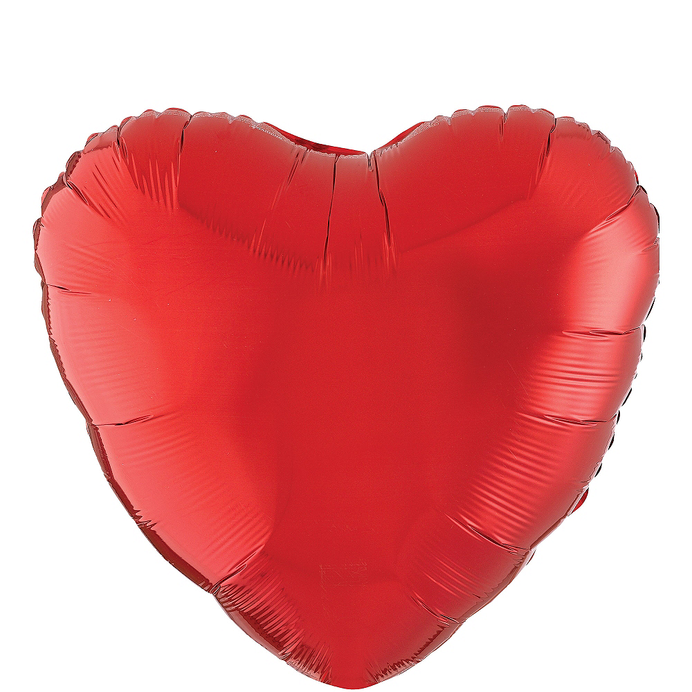 17in Red Heart Balloon Image #1