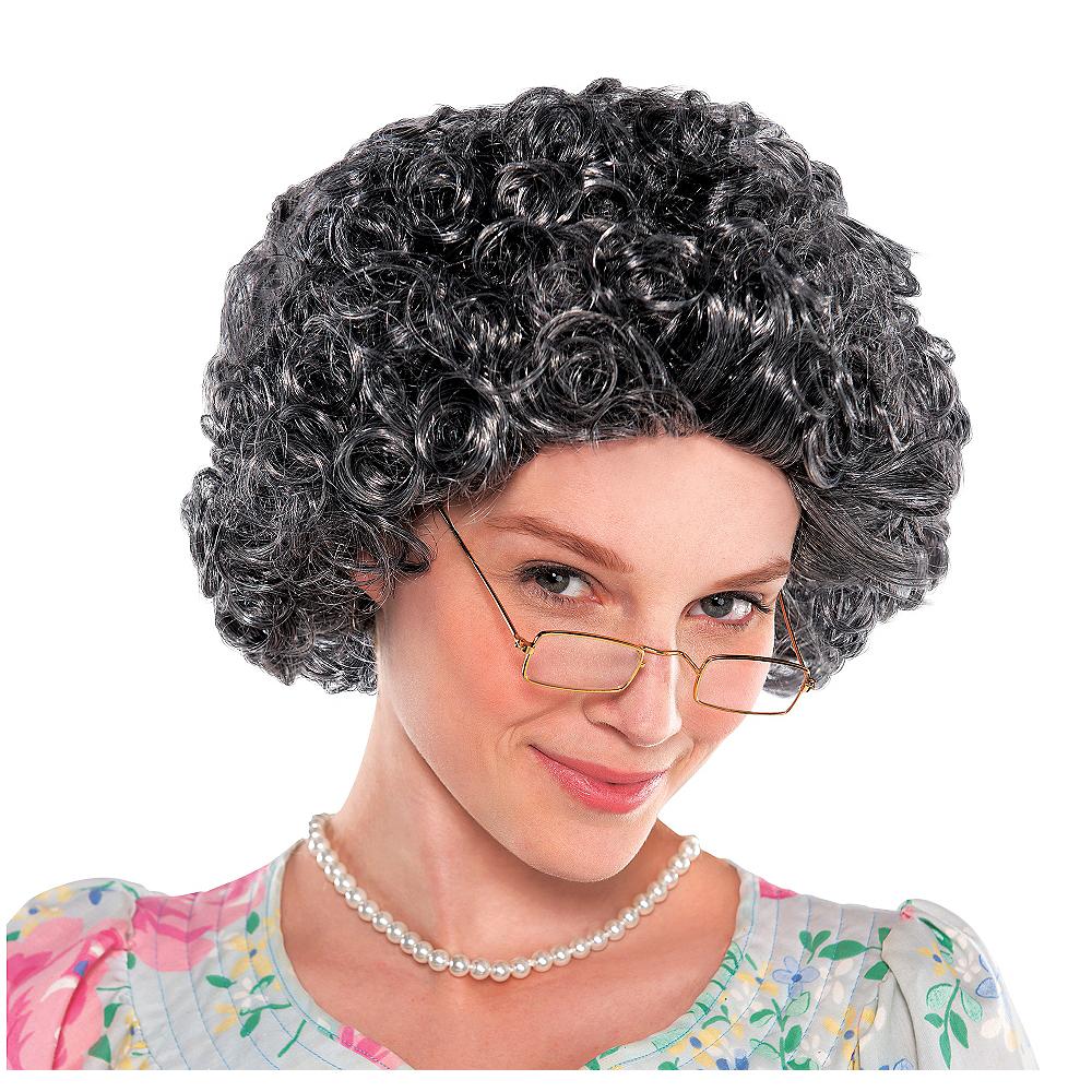 Curly Grandma Wig Image #1