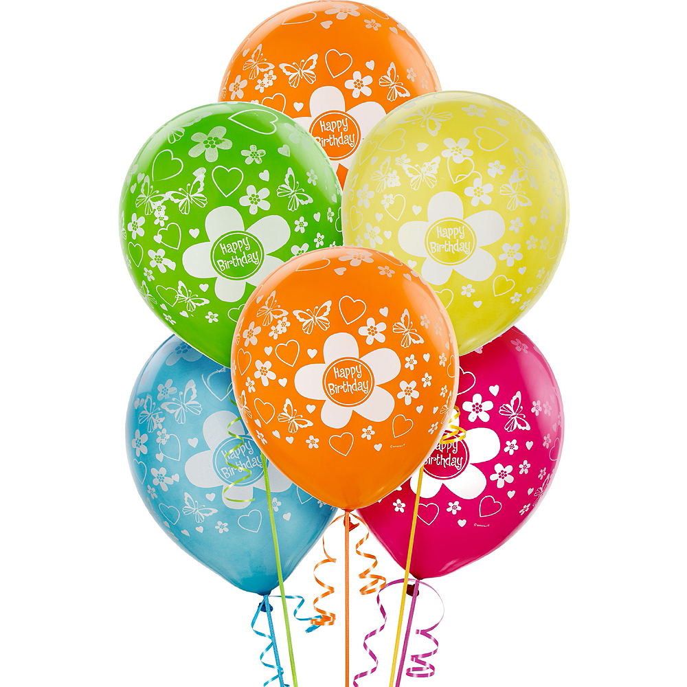 Bright Flower Birthday Balloons