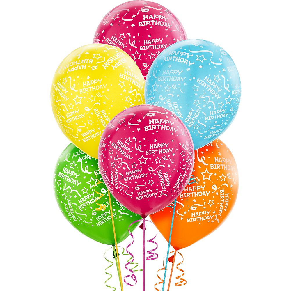 Bright Confetti Birthday Balloons
