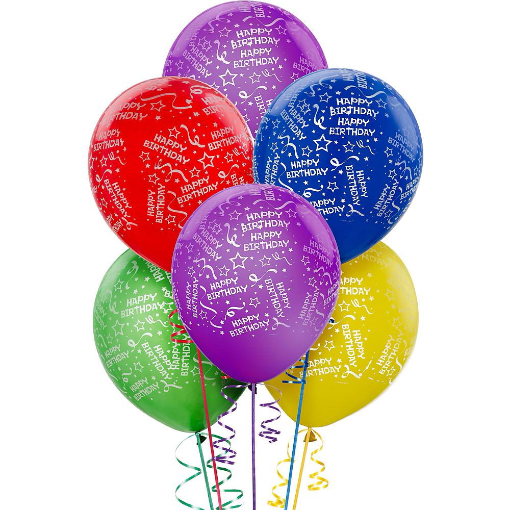 Confetti Birthday Balloons 20ct - Primary, 12in Image #1