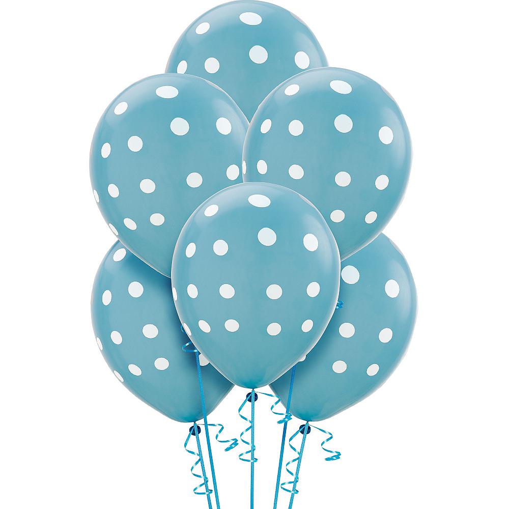 Caribbean Blue Polka Dot Balloons 6ct Image #1