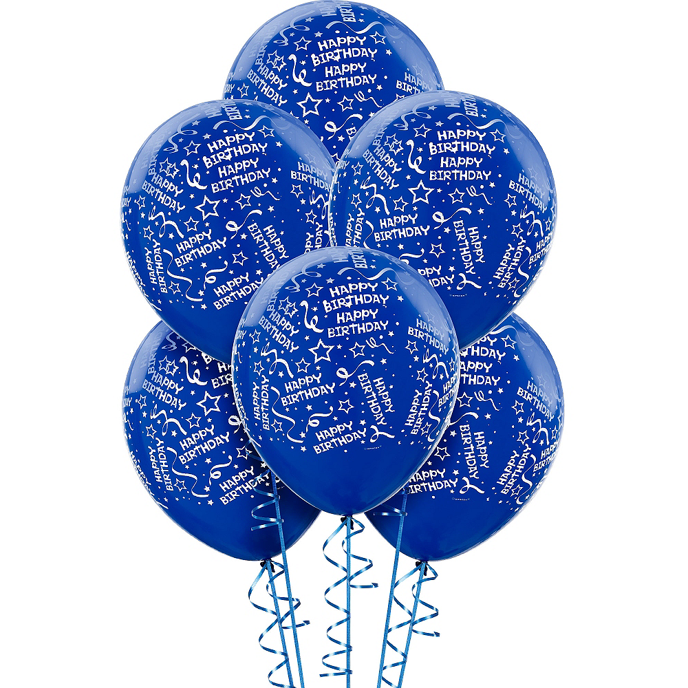 Royal Blue Birthday Balloons 6ct