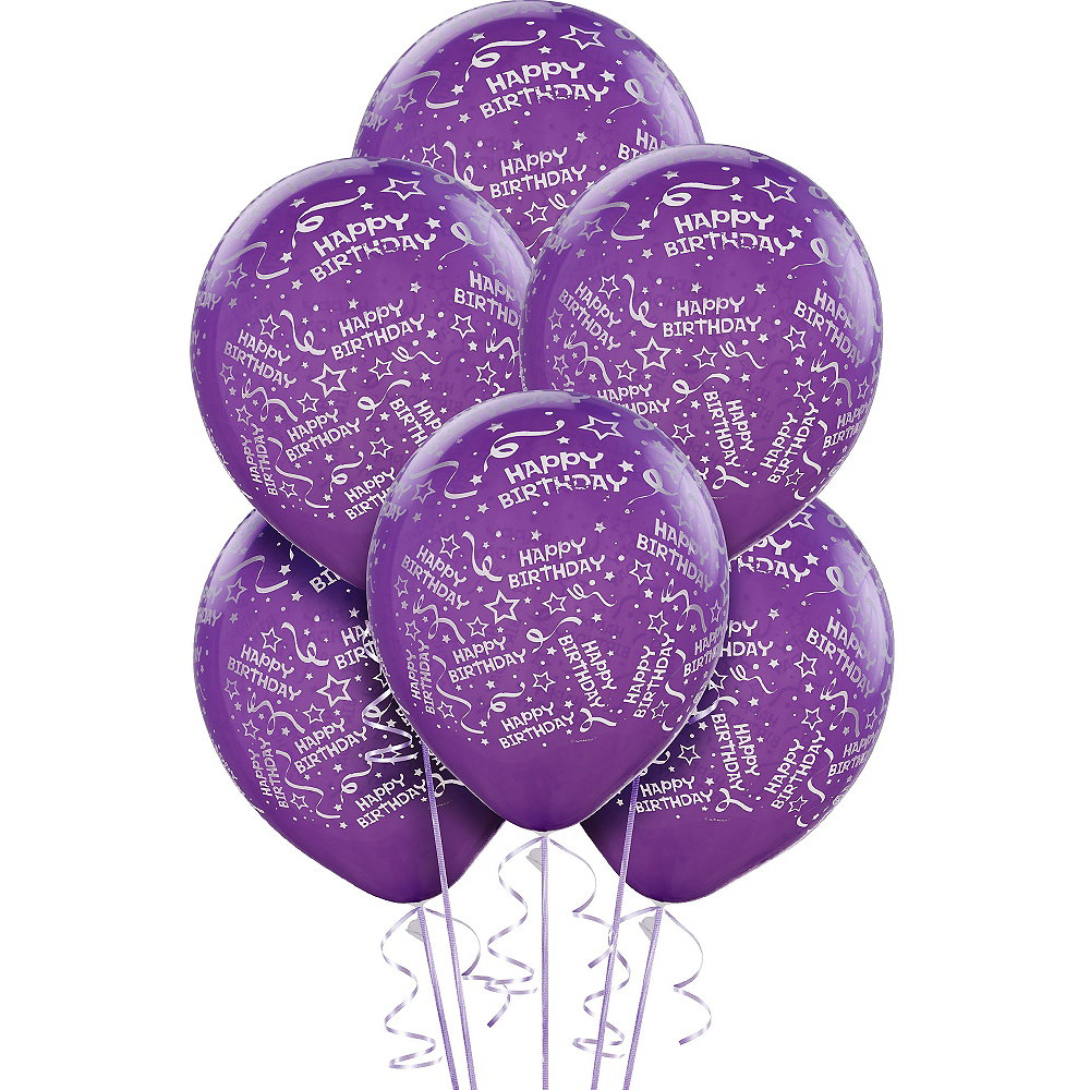 Confetti Purple Birthday Balloons