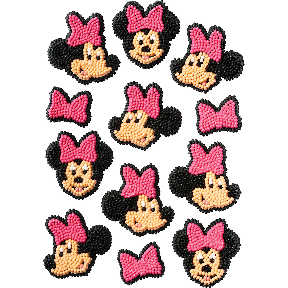 Wilton Minnie Mouse Icing Decorations 12ct Image #1