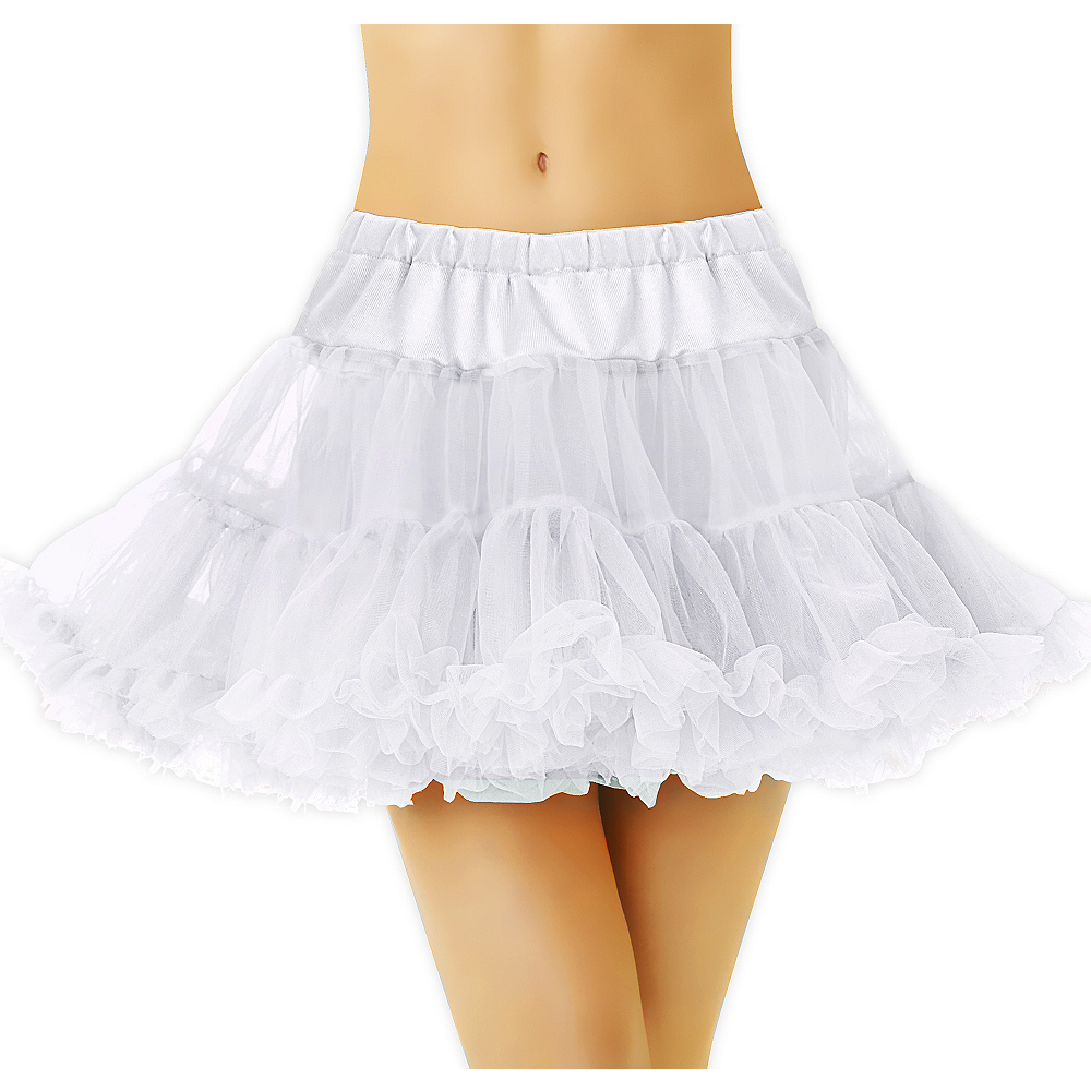 Nav Item for Adult White Tulle Petticoat Image #1