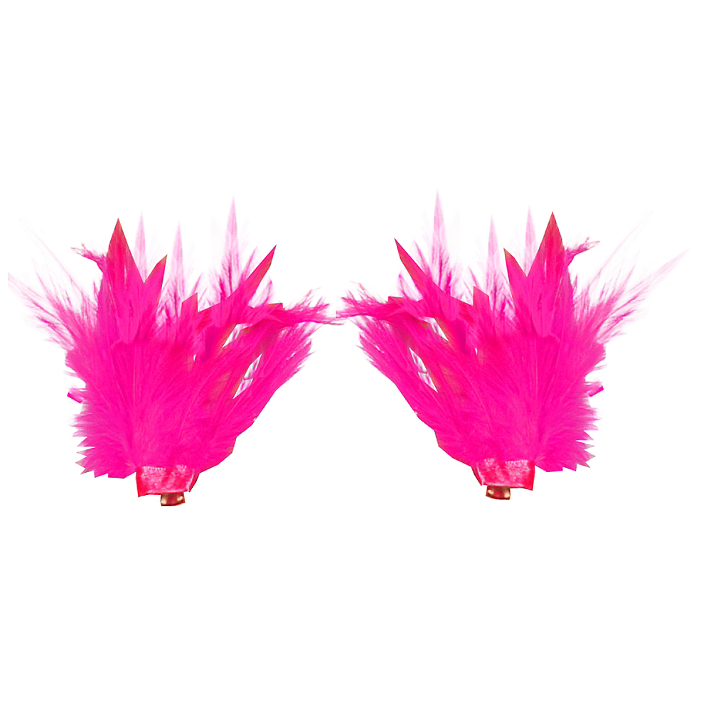 Pink Feather Shoe Clips Image #1