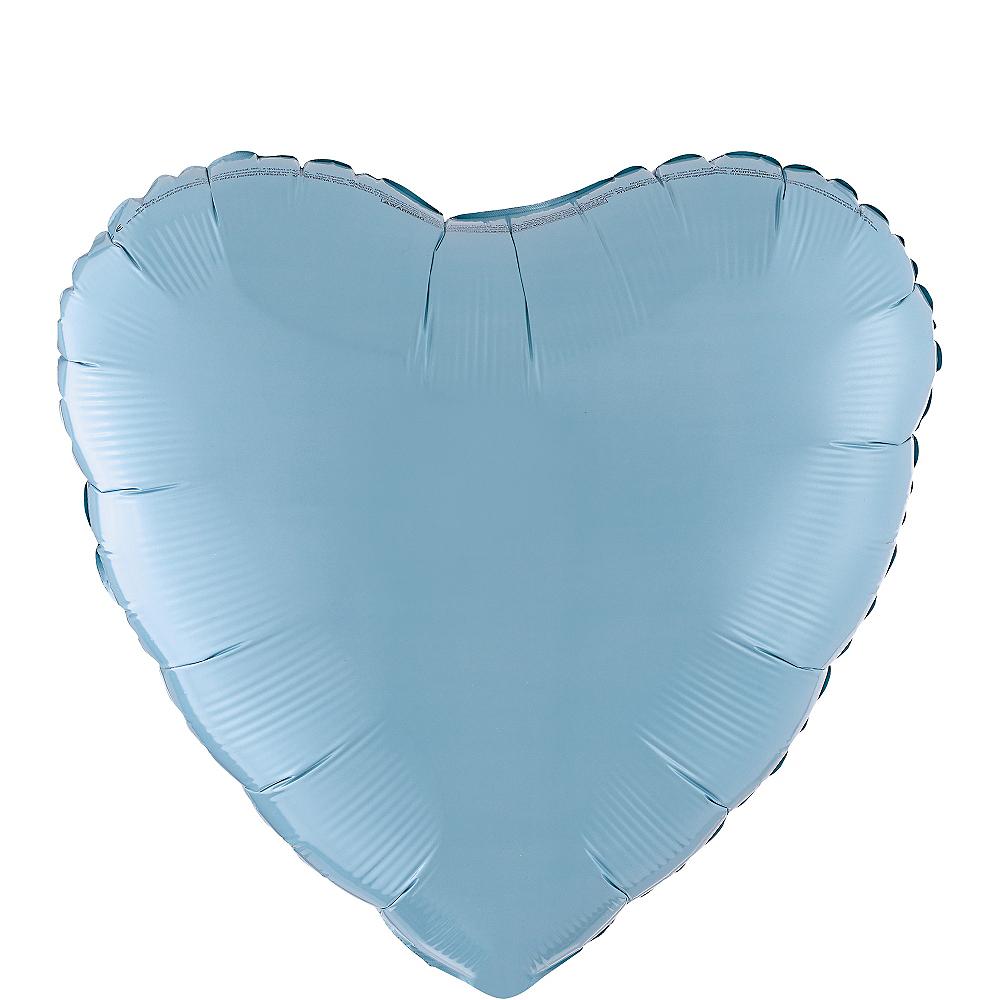 17in Pastel Blue Heart Balloon Image #1