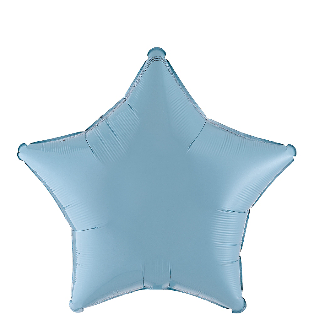 Pastel Blue Star Balloon, 19in Image #1
