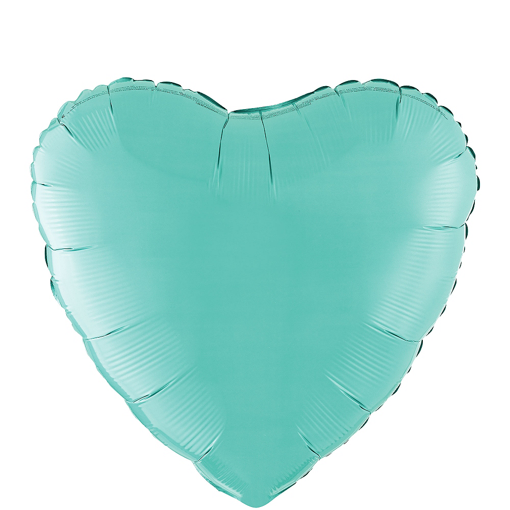 Robin's Egg Blue Heart Balloon Image #1