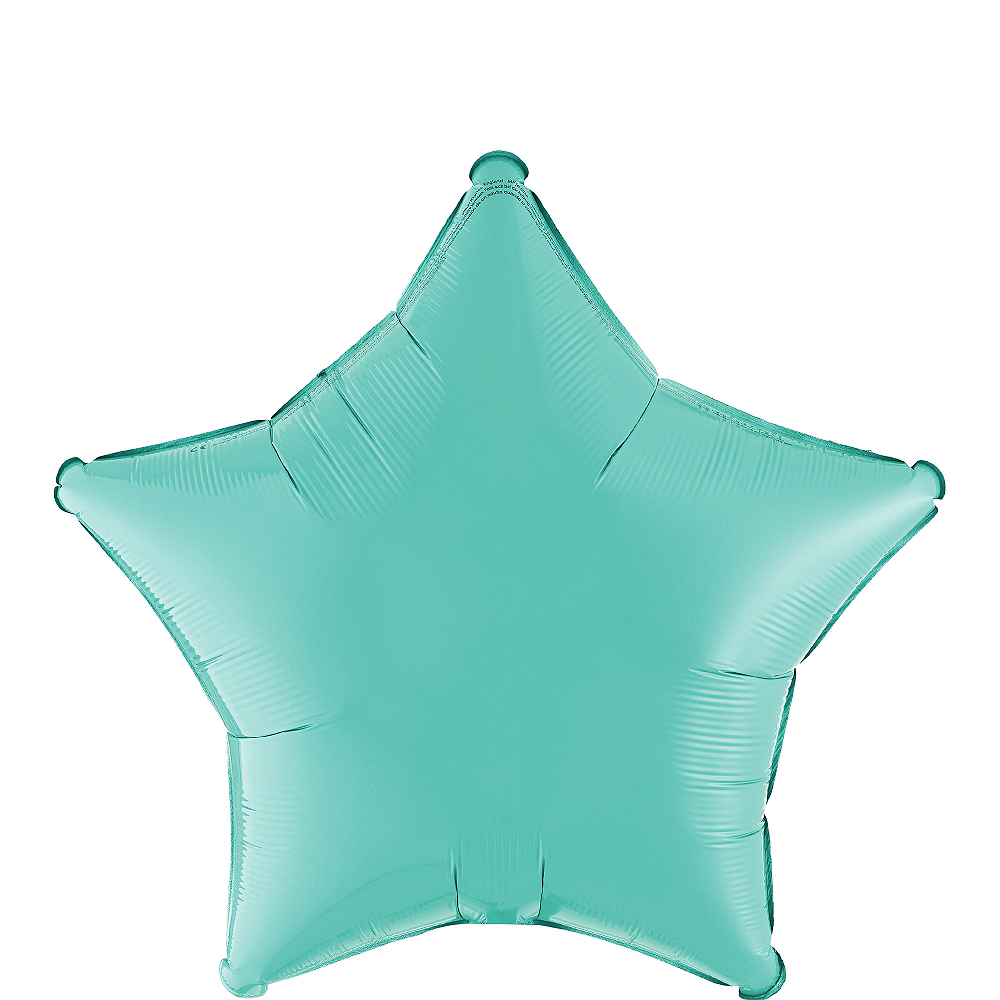 Robin's Egg Blue Star Balloon, 19in Image #1