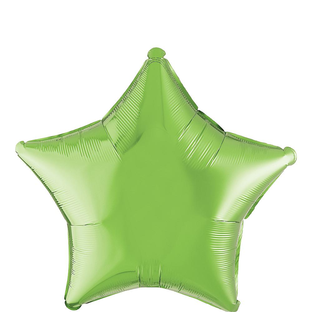 Kiwi Green Star Balloon Image #1