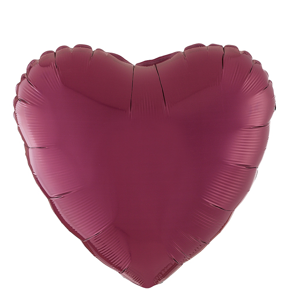 17in Berry Heart Balloon Image #1