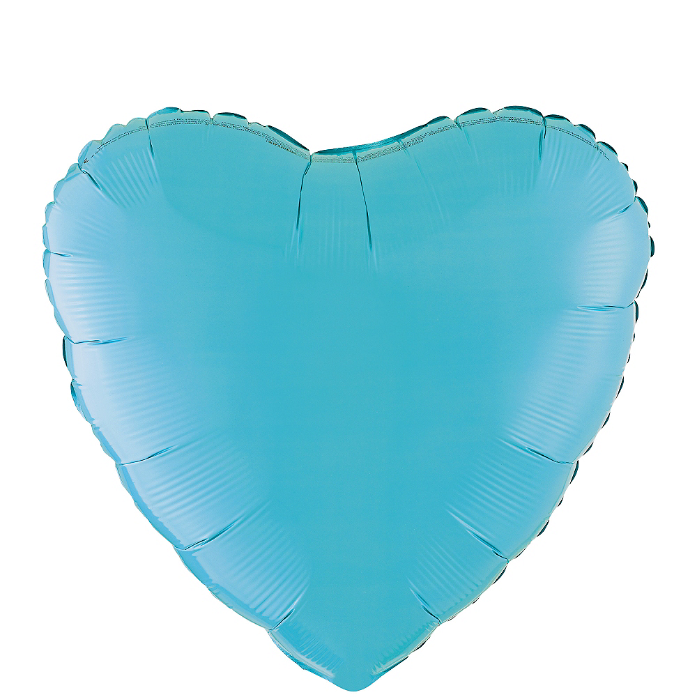 Nav Item for 17in Caribbean Blue Heart Balloon Image #1
