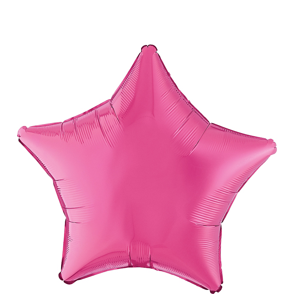 Bright Pink Star Balloon, 19in Image #1
