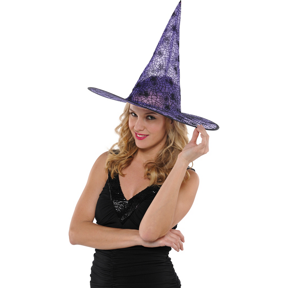 Classic Purple Witch Hat Image #2