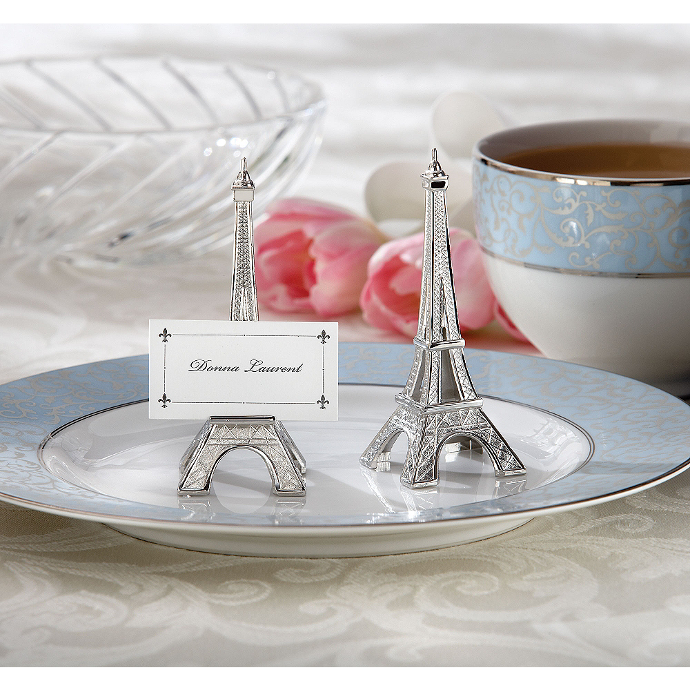 Silver Eiffel Tower Place Card Holders Image #1